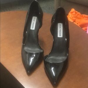 """New Steve Madden 5"""" patent leather heels, size 8"""
